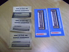 Lot of 5 Vintage How to play Hohner Harmonica Manuals