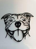 1x Staffordshire Bull Terrier Vinyl Sticker Car Camper Van Bumper Black Staffy