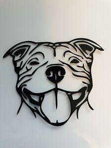 1x Staffordshire Bull Terrier Vinyl Sticker Car Camper Van Bumper Staffy Black