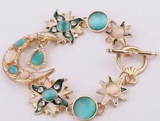 Hot Betsey Johnson Women Jewelry Moon Star Rhinestone Gift Chain Bracelet charm