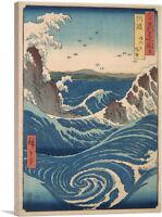 Wirhpool Rough Sea at Naruto in Awa Province Canvas Art Print Utagawa Hiroshige