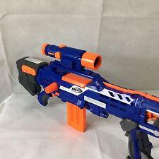 Nerf N Strike Longshot CS-6 Rifle Gun Scope Dart Gun Sniper Blaster Barrel Blue