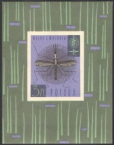 Poland 1962 Mosquito/Medical/Health/Welfare/Malaria Campaign/Insects m/s n23704