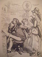 1875 Harper's Weekly July 10 Nast-No Grant 3rd Term