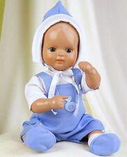 Schildkröt Puppenkleidung, blaue Baby Garnitur für  ein 31 cm  Strampelchen