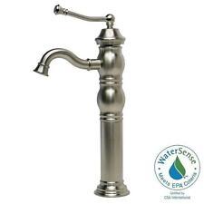 pegasus traditional single hole 1handlemid arc bathroom vessel faucet in brushe