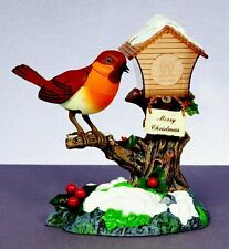 Christmas Decoration -FUN ANIMATED ROCKING ROBIN - SINGS XMAS SONG & MOVES