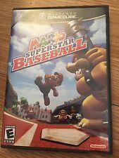 Mario Superstar Baseball Nintendo GameCube NGC Game Cib DD