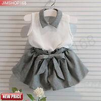 2PCS Toddler Kids Baby Girls T-shirt Vest Tops+Shorts Pants Outfits Clothes Set