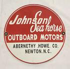 VINTAGE+JOHNSON+MOTORS+12%E2%80%9D+PORCELAIN+SIGN+CAR+GAS+OIL+GASOLINE+AUTOMOBILE