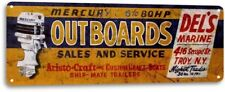 Mercury Outboard Motors Boat Marina Retro Fishing Garage Decor Metal Tin Sign