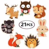 Double-Sided Woodland Creatures Cutouts - Cadeya Forest Animal Centerpiece For W