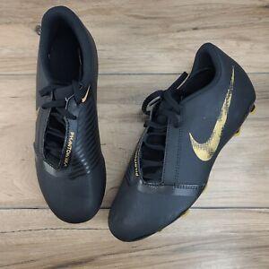 Nike Phantom Venom Club FG Soccer Cleats Black Gold Youth 5.5y or Womens 7