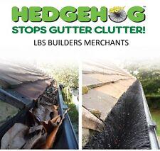 Genuine Hedgehog Gutter Brush - Leaf Guard 100mm Black, Brown, White. FREE CLIPS
