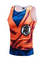 Dragon Ball Goku Tank Top Vest  cartoon costume cosplay dbz super licensed