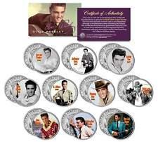 ELVIS PRESLEY * MOVIES * Colorized JFK Half Dollar U.S. 10-Coin Set LICENSED