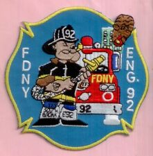New York City Fire Dept Engine 92 Patch Popeye