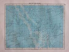 1897 VICTORIAN MAP ~ ASTRONOMY MAP OF STARS AQUILA HERCULES SAGITTARIUS