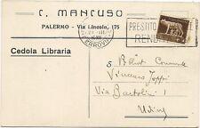 P4240    Palermo, Cedola Libraria  ditta C. Mancuso