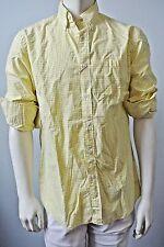 J CREW Men Yellow Checks Washed Shirt Top NwT Large