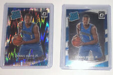 Dennis Smith Jr 2017-18 (2X Lot) Optic Shock Flash Prizm & Base RC Rookie Card