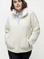 $138 NWOT J Crew Polartec sherpa fleece half-zip pullover jacket Medium M AD993