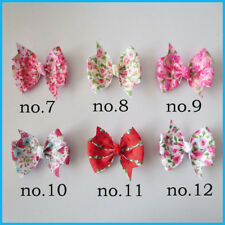 "20 BLESSING Girl  3.25"" Abby Hair Bow Clip Easter Accessories Flower Spring"
