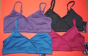 Capezio Dance Double Fabric Bra Top Adjustable Straps 4 Colors Ladies BX500