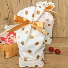 10X Gold Spot Christmas Tree Party Gift Drawstring Packing Stocking Bags