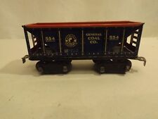 O Marx #544 General Coal Co. car, blue with red interior