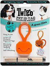 Twigo Pet ID Tags for Dogs and Cats, All Sizes, Orange