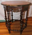 ANTIQUE WOODEN SPANISH MISSION CENTER TABLE