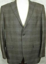 NEW $695 Peter Millar Gray Brown & Blue Plaid 4 Season Wool Sport Coat 42R
