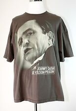 JONNY CASH AT FOLSOM PRISON Men's Graphic T-Shirt Green - Brown Cotton - 2X ZION