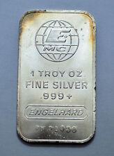 ENGELHARD MC 1 oz. TROY SILVER 0.999+ FINE SILVER BAR W/ Serial # !!!