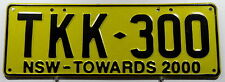 "Nummernschild Australien New South Wales ""TOWARDS 2000"". 11995."