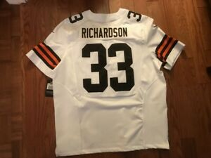 CLEVELAND BROWNS NIKE ON FIELD TRENT RICHARDSON AUTHENTIC GAME JERSEY NWT SZ 52