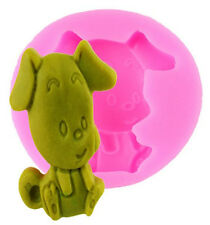 Cute Puppy Dog Sitting Silicone Mold for Fondant, Gum Paste, Chocolate, Crafts