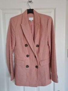 Witchery Linen Blazer Jacket Size 6 Light Pink