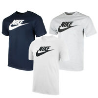 Nike Men's Athletic Wear Short Sleeve Logo Swoosh Printed Gym Active T-Shirt
