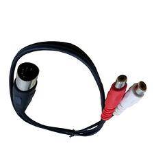 10pcs 1.5ft MIDI DIN 5 PIN Plug to 2 RCA Phono Female Jack Audio Cable 0.5m