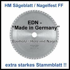 HM Sägeblatt 400x3,5x30mm 28FF Nagelfest Baukreissäge  stärkeres Stammblatt !!