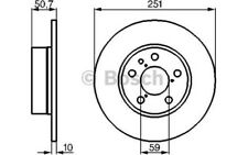 1x BOSCH Disco de Freno Trasero Pleno 252mm Para ALFA ROMEO 147 0 986 479 B31