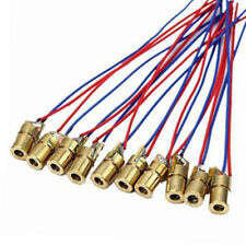 10pcs Laser Diode Module Mini 650nm 6mm 5V 5mW Laser Dot Diode Head WL Red I1P2