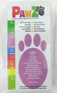 """Pawz LARGE Purple Natural Rubber Waterproof Dog Boots Paws 3"""" to 4"""" Pawz Brand"""