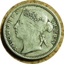 elf Straits Settlements 10 Cents 1896  Victoria