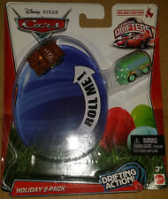 New Disney Mattel Cars MICRO DRIFTERS Holiday Edition 2 pack Mater Fillmore TOY
