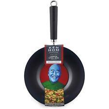 Ken Hom Excellence Carbon Steel Non-Stick Mini Wok - Asian Cooking - Black, 27cm