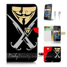 ( For HTC Desire 310 ) Case Cover! V for Vendetta Mask P0067