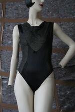 Damen Body Unterwäsche schwarz Glitter TRUE VINTAGE women's body black underwear